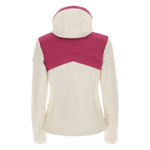 CAMELIA SOFTSHELL DOWN JACKET M, FUXIA-FUXIA-WHITE